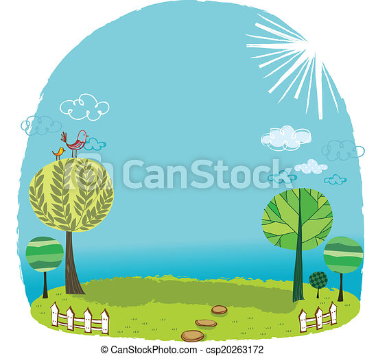 the view of grassland the view of trees in the grassland vectors rh canstockphoto com grassland climate graph grassland climate and temperature