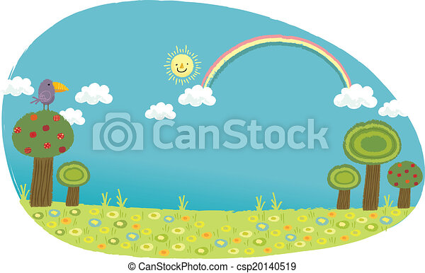 the view of grassland with sky vector clip art search illustration rh canstockphoto com grassland climate facts grassland climate facts