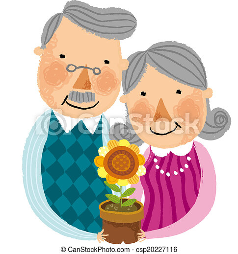 The view of old couple - csp20227116
