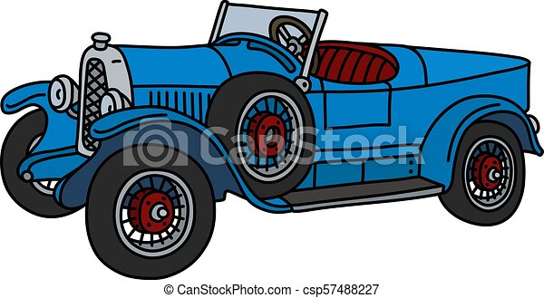 The vintage blue roadster - csp57488227
