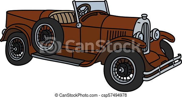 The vintage brown roadster - csp57494978