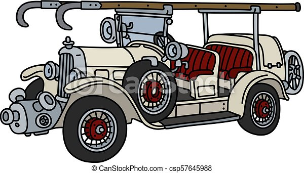 The vintage fire truck - csp57645988
