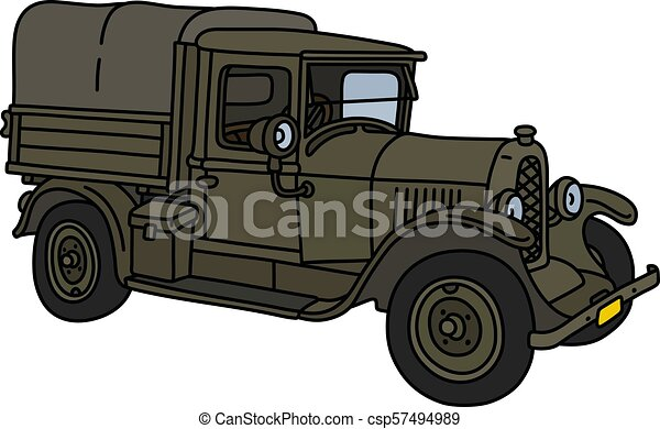 The vintage military truck - csp57494989