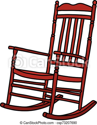 The vintage red rocking chair - csp73207690