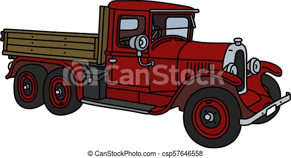 The vintage red truck - csp57646558