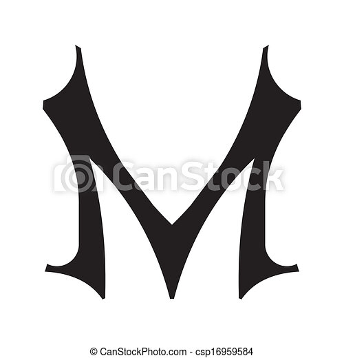 The Vintage Style Letter M Decorative Hand Painted Letter In