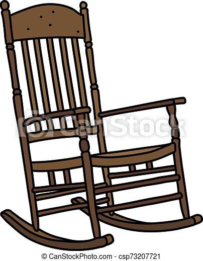 The vintage wooden rocking chair - csp73207721