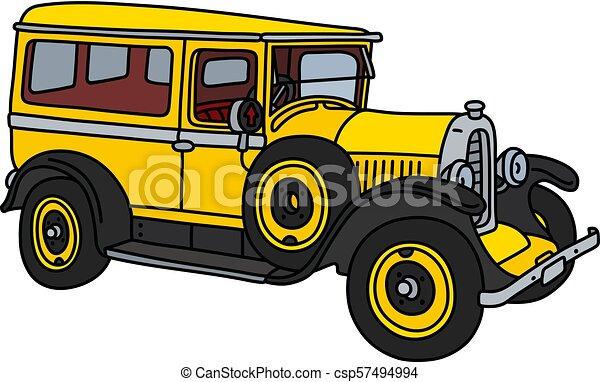 The vintage yellow van - csp57494994