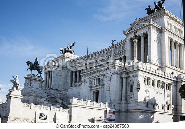 The Vittoriano or Altare della Patria in Rome, Italy - csp24087560