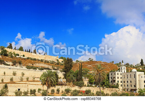 The Wall of the Old City of Jerusalem, Israel - csp88349768