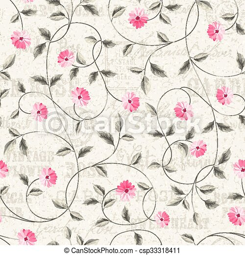 The Wallpaper Texture Seamless Floral
