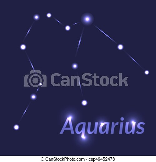 The Water Bearer Aquarius Sing Star Constellation Element