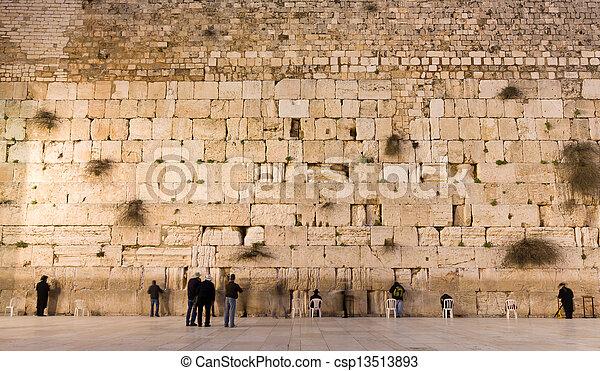 the Western Wall in jerusalem - csp13513893