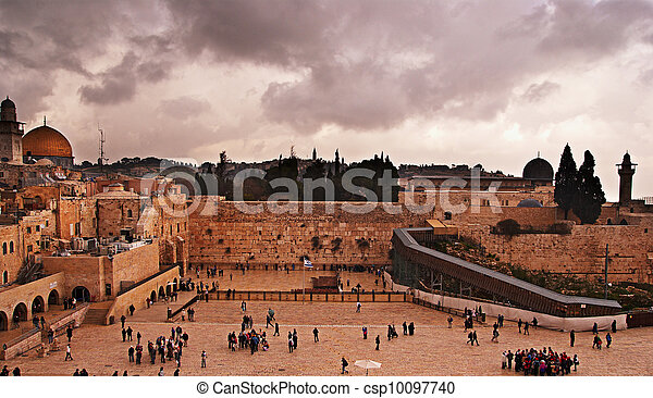 The Western Wall, Temple Mount, Jerusalem - csp10097740