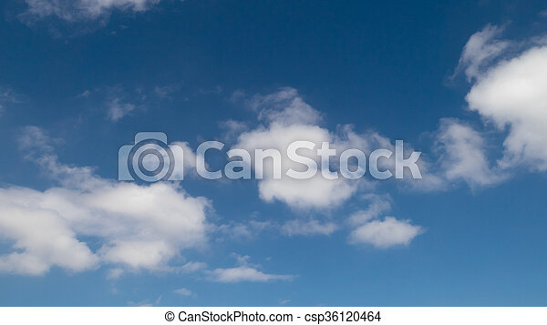 The white cloud with blue sky - csp36120464