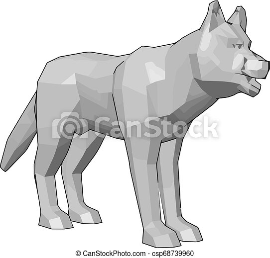 The White Colored Toy Vector Or Color Illustration A White