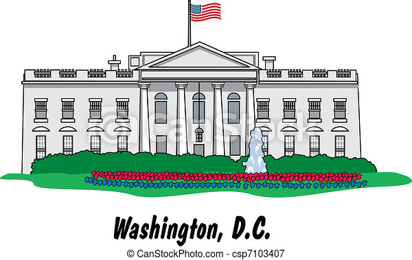 the white house in washington d c vectors illustration search rh canstockphoto com black and white house clipart black and white house clipart images