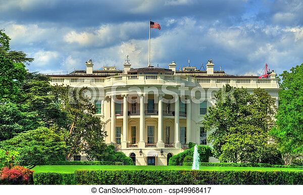 The White House in Washington, DC - csp49968417