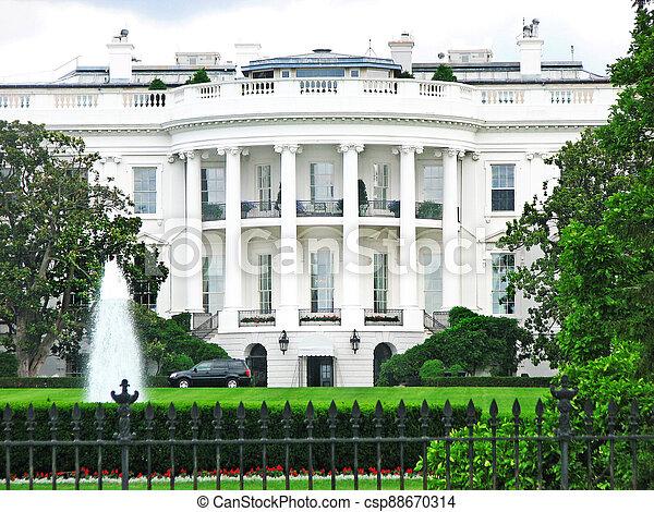 The White House in Washington DC - csp88670314
