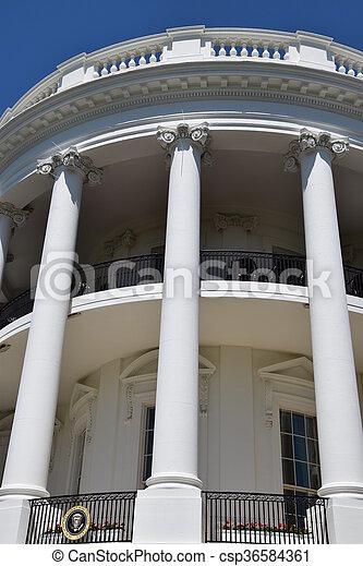 The White House in Washington, DC - csp36584361