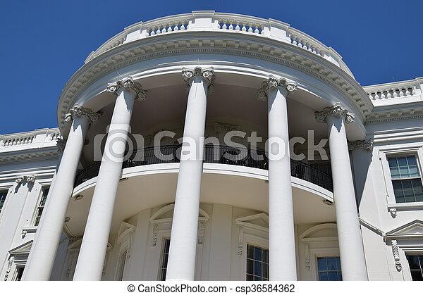 The White House in Washington, DC - csp36584362