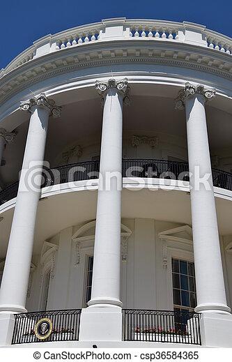 The White House in Washington, DC - csp36584365