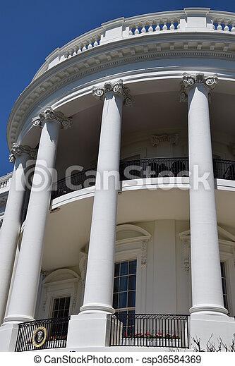 The White House in Washington, DC - csp36584369