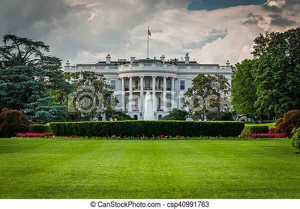 The White House, in Washington, DC. - csp40991763