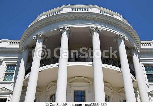 The White House in Washington, DC - csp36584350
