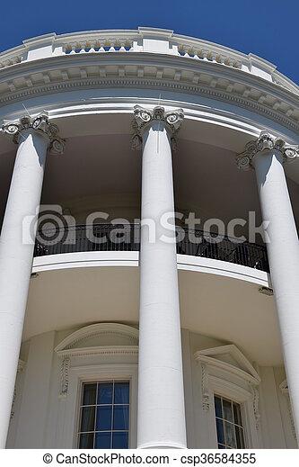 The White House in Washington, DC - csp36584355