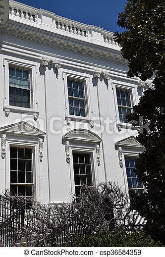 The White House in Washington, DC - csp36584359