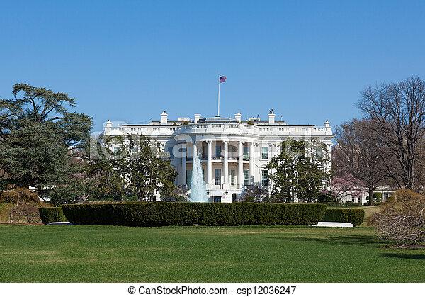 The White House in Washington DC - csp12036247