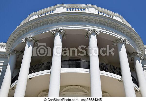 The White House in Washington, DC - csp36584345