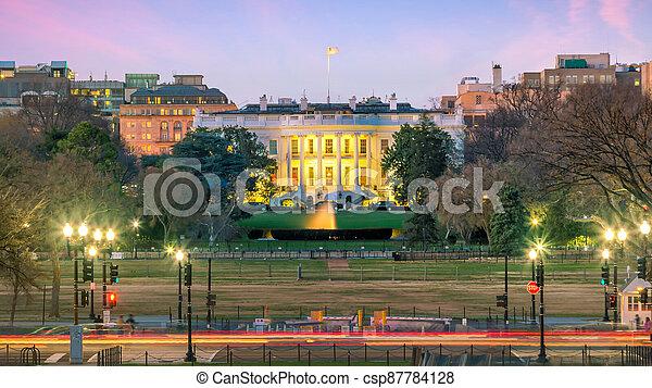 The White House  in Washington, D.C. United States - csp87784128