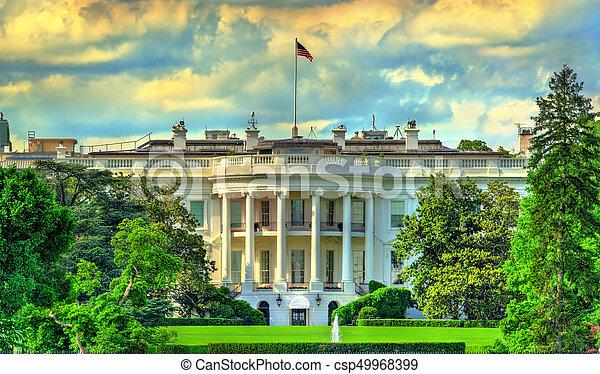 The White House in Washington, DC - csp49968399