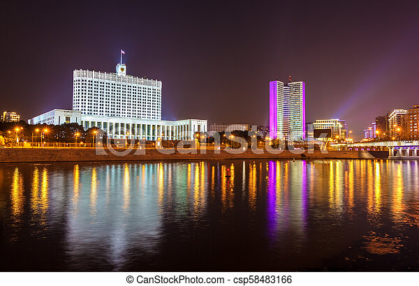 The White House, the House of the Government of the Russian Federation in Moscow - csp58483166