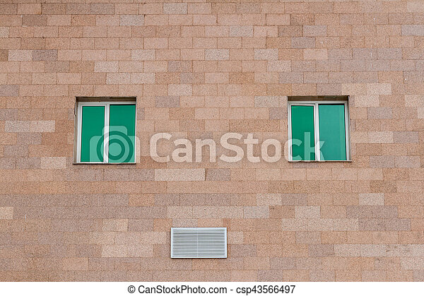 The windows in the wall - csp43566497