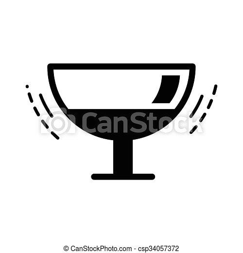 The wineglass icon black color - csp34057372