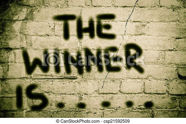 The Winner Is Concept - csp21592509