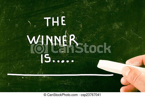 the winner is... - csp23767041