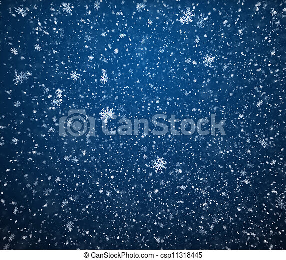 The winter background, falling snowflakes.