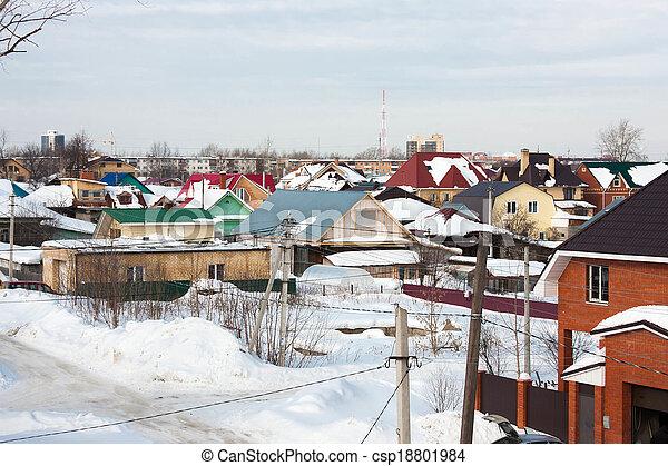 the winter rural landscape - csp18801984