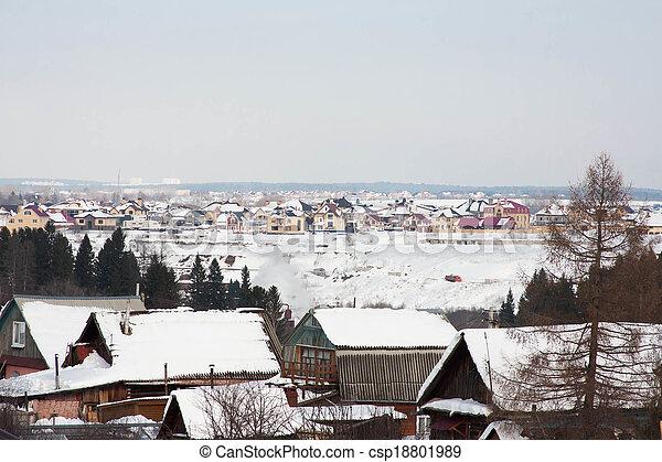 the winter rural landscape - csp18801989