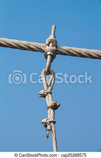 The wire metal rope bridge - csp25268575
