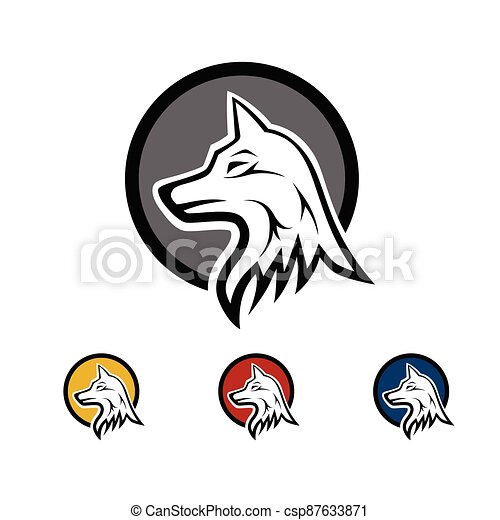 The wolf as an icon - csp87633871
