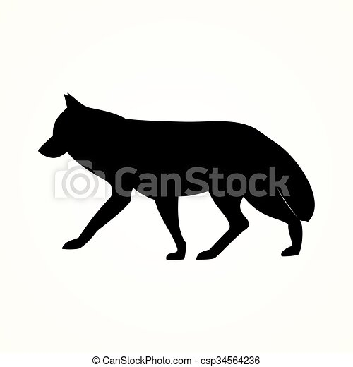 the wolf icon - csp34564236