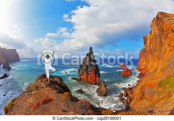 The woman ashore in a white suit - csp28166001