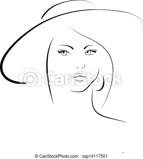 The woman in a hat - csp14117501