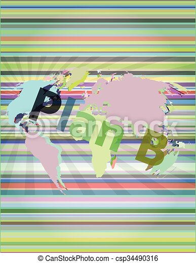 The word insurance on digital screen, business concept vector illustration - csp34490316