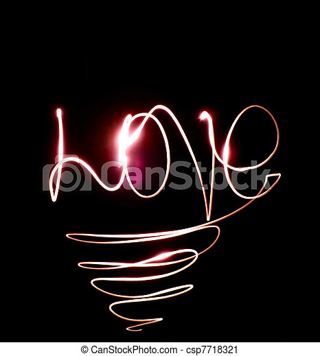 the word love from the lights - csp7718321